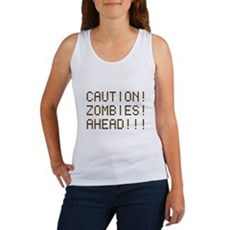 Caution Zombies Ahead Womens Tank Top