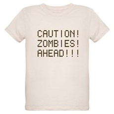 Caution Zombies Ahead Organic Kids T-Shirt
