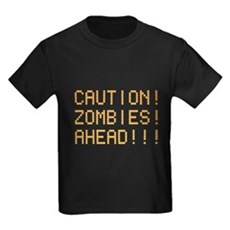 Caution Zombies Ahead Kids T-Shirt