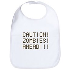 Caution Zombies Ahead Bib