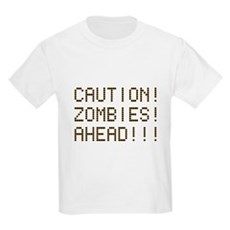 Caution Zombies Ahead Kids Light T-Shirt