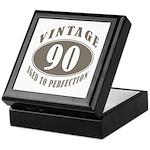 90th Vintage Brown Keepsake Box