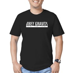 Obey Gravity Men's Fitted T-Shirt (dark)