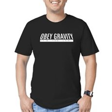 Obey Gravity Mens Fitted Dark T-Shirt