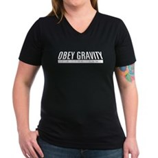 Obey Gravity Womens V-Neck T-Shirt