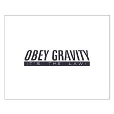 Obey Gravity Small Poster