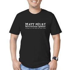 Matt Foley Mens Fitted Dark T-Shirt