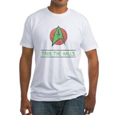 Trek The Halls Fitted T-Shirt