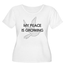 My Peace Is Growing Womens Plus Size Scoop Neck T