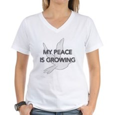 My Peace Is Growing Womens V-Neck T-Shirt