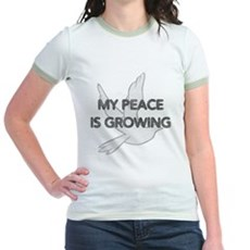 My Peace Is Growing Jr Ringer T-Shirt
