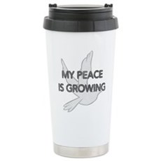 My Peace Is Growing Stainless Steel Travel Mug