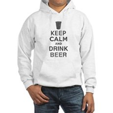 Keep Calm and Drink Beer Hooded Sweatshirt