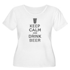 Keep Calm and Drink Beer Womens Plus Size Scoop N