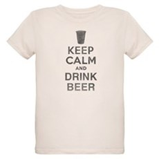 Keep Calm and Drink Beer Organic Kids T-Shirt