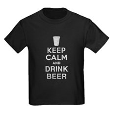 Keep Calm and Drink Beer Kids T-Shirt