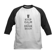Keep Calm and Drink Beer Kids Baseball Jersey