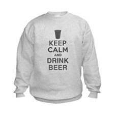 Keep Calm and Drink Beer Kids Sweatshirt