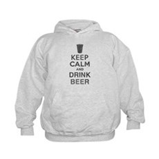 Keep Calm and Drink Beer Kids Hoodie