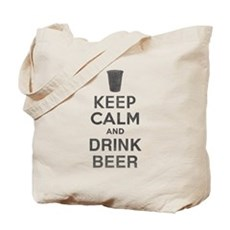 Keep Calm and Drink Beer Tote Bag