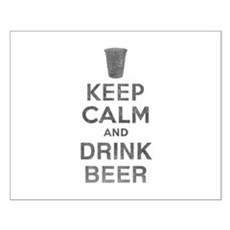 Keep Calm and Drink Beer Small Poster