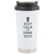 Keep Calm and Drink Beer Stainless Steel Travel Mu