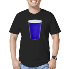 Blue Party Cup Mens Fitted Dark T-Shirt