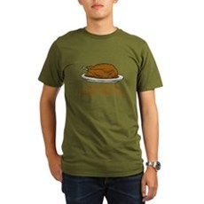 Too Drunk To Taste the Turkey Organic Mens T-Shir