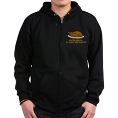 Too Drunk To Taste the Turkey Zip Dark Hoodie