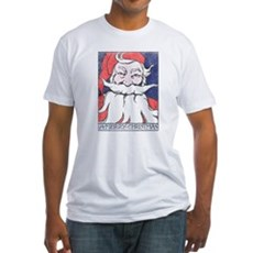 Vintage Merry Christmas Fitted T-Shirt