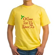 O Come Let Us Adore Me Yellow T-Shirt