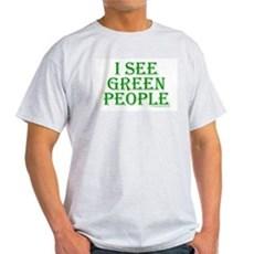 I see green people Ash Grey T-Shirt