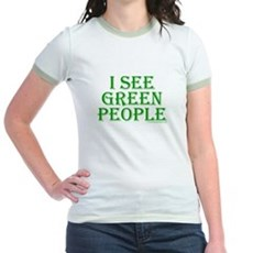 I see green people Jr Ringer T-Shirt