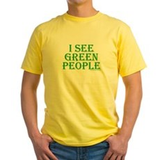I see green people Yellow T-Shirt
