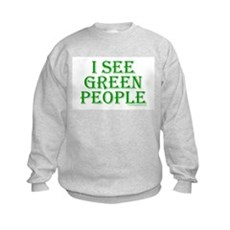 I see green people Kids Sweatshirt