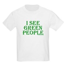 I see green people Kids T-Shirt