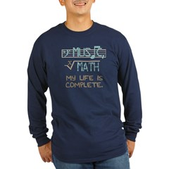 music and math Long Sleeve Dark T-Shirt