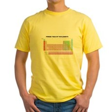 Periodic Table Yellow T-Shirt