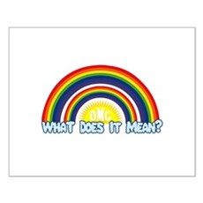 Double Rainbow Small Poster