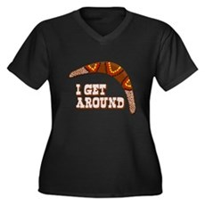 I Get Around Plus Size V-Neck Shirt