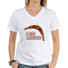 I Get Around Womens V-Neck T-Shirt