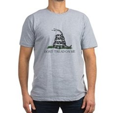 Don't Tread On Me Mens Fitted Dark T-Shirt
