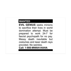 Evil Genius Personal Ad 35x21 Wall Peel