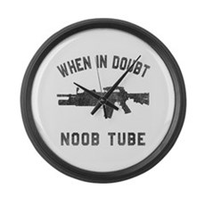 Noob Tube Large Wall Clock