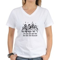 Fah-Rah-Rah-Rah Womens V-Neck T-Shirt