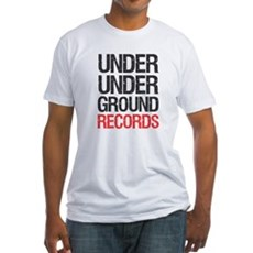 Under Under Ground Records Fitted T-Shirt