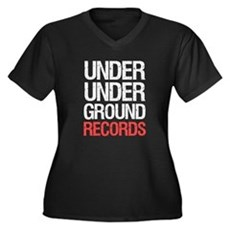 Under Under Ground Records Womens Plus Size V-Nec