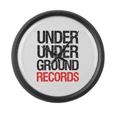 Under Under Ground Records Large Wall Clock