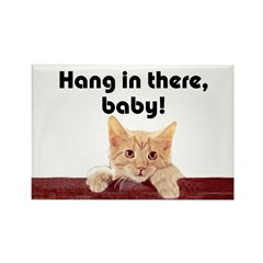 Hang In There Baby Fridge Magnet