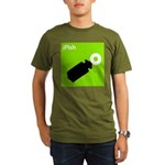 iPish (green) Organic Men's T-Shirt (dark)